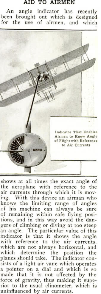 AOA Indicator Popular Mechanics Feb 1914